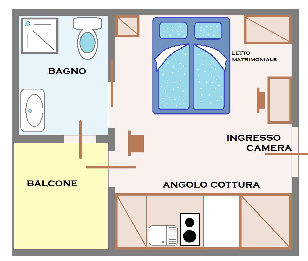 Bagno in camera pianta design casa creativa e mobili for Camera da letto misure